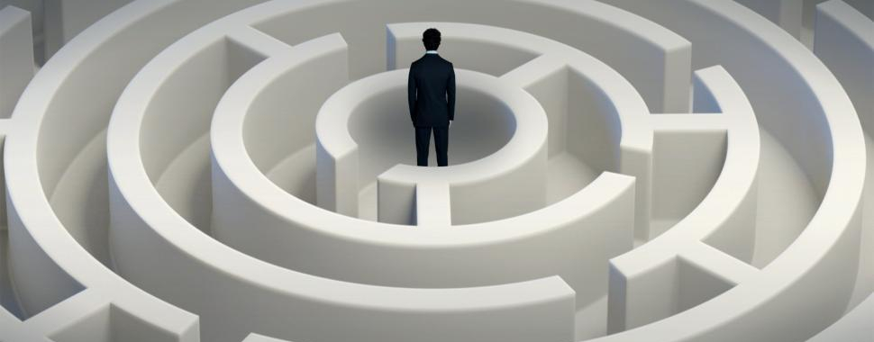man inside maze