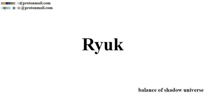 ryuk-ransomware-message
