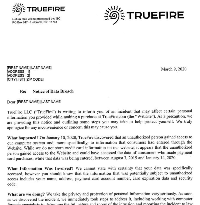 truefire-letter